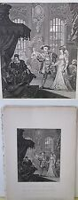Vintage Print,HENRY THE 8TH,Anne Boleyne,Hogarth,c1840