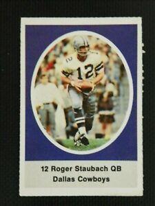 1972 SUNOCO FOOTBALL STAMP ROGER STAUBACH DALLAS COWBOYS