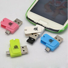 2-in-1 Micro USB2.0 OTG Adapter + Micro SD TF Card Reader for Android Phone Cool
