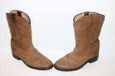 Dan Post Children's Roper Cowboy Boot DPC2303 Brown Leather Sz 12.5 youth