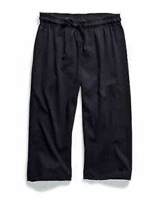 Champion Women Jersey Capri Authentic Adjustable Waist Workout Pants Comfort NWT