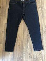 M&S Dark Skinny Blue Jeans 20 Regular Leg  Streych