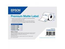 Epson Rollo de etiquetas C33S045534 papel normal 76x51mm PREMIUM Mate Revestido