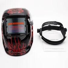 Welding Helmet Death Skull Auto Darkening Mig Tig Arc Welder Protective Mask Red