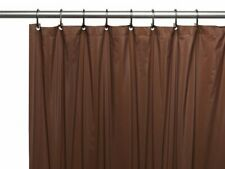 Brown 3-Gauge Vinyl Shower Curtain Liner with Metal Grommets & Magnets