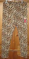 Faded Glory Girls Pants Leggings Print Animal Brown Black Size X Large 14 16 New
