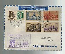 1946 France First Flight Cover to Vietnam via Air France FFC
