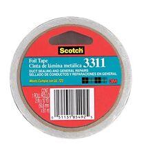 "3M 85492 Scotch Aluminum Foil Tape 3311 Silver, 2"" x 10 yd 3.6 mil"