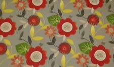 "MILL CREEK BONNYRIGG STONE GREY LARGE FLORAL OUTDOOR FABRIC BY THE YARD 54""W"