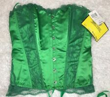 HOT TOPIC POISON IVY Green Lace Up WOMEN CORSET Sz S/M Sexy Lingerie Undergirl
