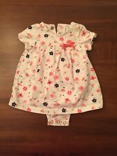 Carters Baby Girl Dress w/ attached Diaper Cover! 3 MONTHS
