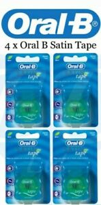 4 x Oral B - Satin Tape Dental Floss - Brand New