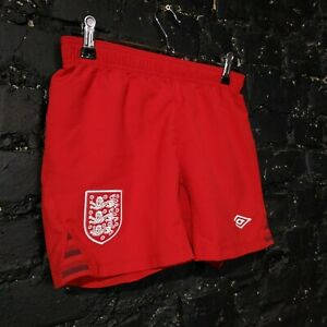 England Away football Shorts 2010 - 2012 Umbro Red Size Young S