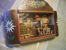 "WOW! COUNTRY DOLLHOUSE ""ANTIQUE"" MUSIC BOX, SHADOW BOX, MAGNIFICENT, L@@K, READ!"