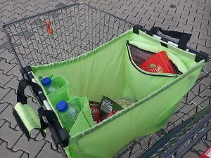 Faltbare Einkaufswagentasche Einkaufswagen-Tasche Rucksack Blau Grün Orange