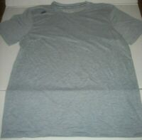 NEW Balance Lightning Dry Performance Shirt Mens Size Medium Gray NB on Shoulder