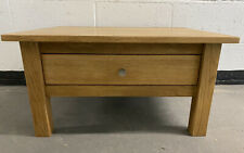 Solid Oak Coffee Table With Storage Drawer