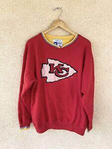Mens Vintage Pro Line Starter Kansas City Chiefs Sweatshirt CrewNeck  Size M