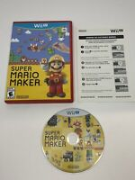 Super Mario Maker ( Nintendo Wii U ) CIB Complete W/ Manual, Tested!