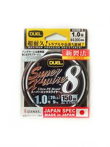 DUEL HARDCORE Super X-wire X8 PE Braid Line Premium 150m Japan ALL SIZES