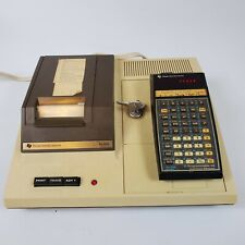 Vintage Texas Instruments TI-59 Programmable Calculator w/ PC-1000 Cradle & Bag