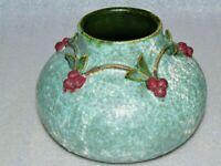 """Ephraim Faience Pottery Vase """"Garland of Berries"""" (retired) Mary Pratt"""