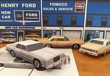 Papercraft 1975-1978 Ford LTD silver sedan EZU-make Paper Model Car