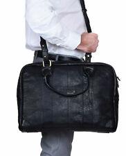 """Men's Leather Shoulder Bag Messenger Briefcase 17"""" Laptop Case Business Satchel"""