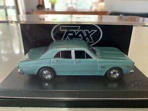 Trax. 1/43 Scale. TR9D. XR Ford Falcon 500 Sedan. In Gree Velvet Metallic.