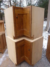 PRETTY custom made OAK kitchen corner CABINET salvaged quartersawn OAK board 34""