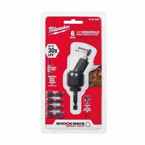 Milwaukee SHOCKWAVE IMPACT DUTY 30 Deg Knuckle Bit Holder Set (6-Pc) 48-32-2300
