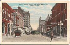 Fourth Street Looking East From Wall Street in Joplin MO Postcard
