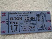 ELTON JOHN Original__UNUSED__1973 CONCERT TICKET__Honolulu, Hawaii__EX+