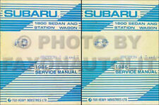 1985 Subaru Shop Manual Set 1800 DL GL Turbo Repair Service XT base book