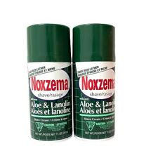 2 X Noxzema Shave Cream Aloe and Lanolin Shaving 11 Oz (Lot of 2) HTF