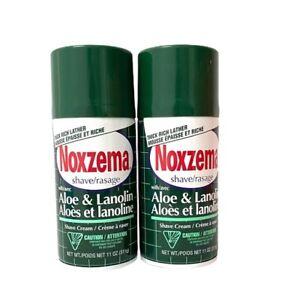 Noxzema Shave Cream Aloe and Lanolin Shaving 11 oz New Lot of 2