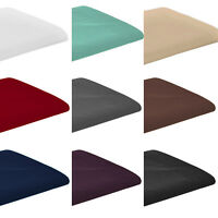 Luxury Plain Pollycotton Percale Non Iron Flat Sheet or Pillow Pair Cases