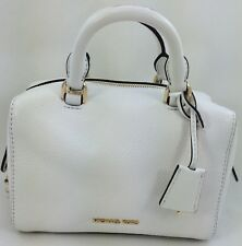 e8b6ddd5a6fe New Michael Michael Kors Kirby Extra Small Leather Satchel Handbag Off White