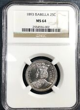 1893 Isabella Commemorative Quarter  NGC MS64 **Blast White**