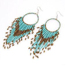 Indiana Orecchini da perline Accessorio indiano Orecchino perle turchese oro
