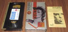 Japan OFFICIAL VHS video tape David Bowie ZIGGY STARDUST 14800 Yen ORIGINAL!