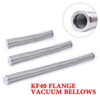 KF-40 Bellow Flexible Hose tube Length800-1500mm Flange Vacuum Fitting SS304 New