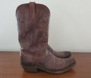 Size 12D Mens Lucchese 1883 Cowboy Boots  NV1500 Snip Toe