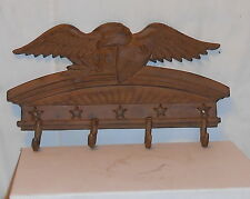 CAST IRON BROWN FINISH EAGLE  WITH SHIELD COAT HOOK (4 HOOKS)