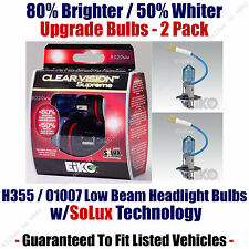 2-Pack Upgrade Low Beam Headlight Bulbs 80% Brighter 50% Whiter 01007/H355CVSU2