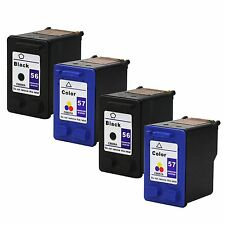 4PKs HP 56 57 Ink for PSC 2510Xi 1110 1200 1209 Deskjet 450 450wbt 5145 5151