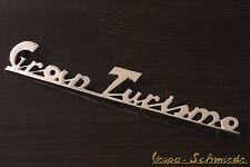 """VESPA Emblem Schriftzug Heck """"Gran Turismo"""" - Chrom 125 GT GTR Beinschild Antik"""