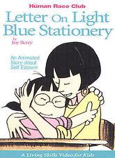 LETTER ON LIGHT BLUE STATIONERY Human Race Club new Joy Berry DVD on Self Esteem