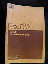 CAT Caterpillar 3512 INDUSTRIAL   ENGINE   PARTS BOOK  49Y1-UP