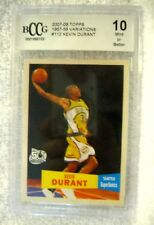 Kevin Durant RC 2007-2008 Topps 1957-58 VARIANT Rookie Card#112 Graded BccG 10!